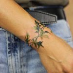 Cover up greenery tattoo by Mavka Leesova
