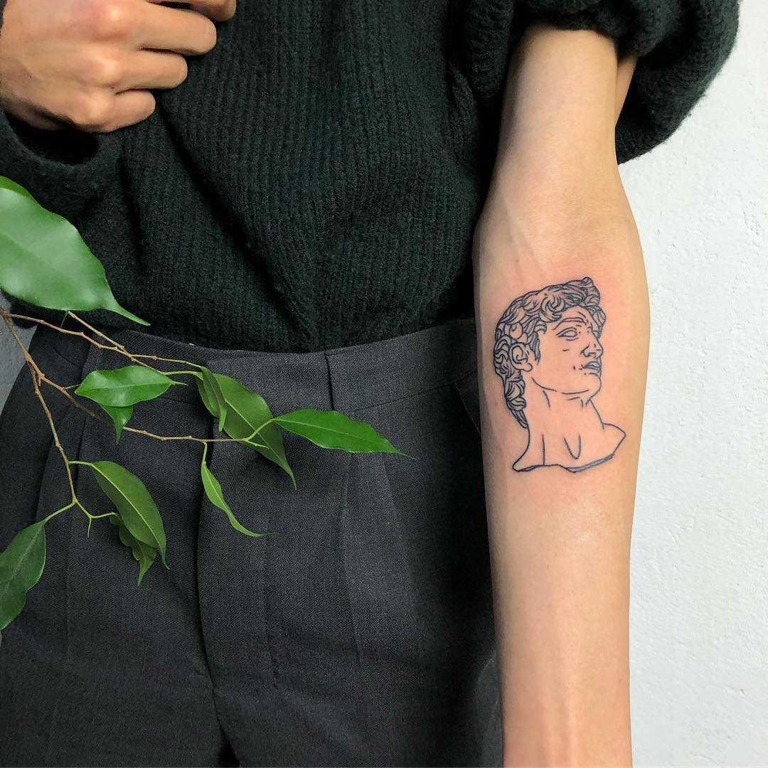 David's bust by Hand Job Tattoo