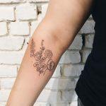 Desert bouquet tattoo by Kelli Kikcio