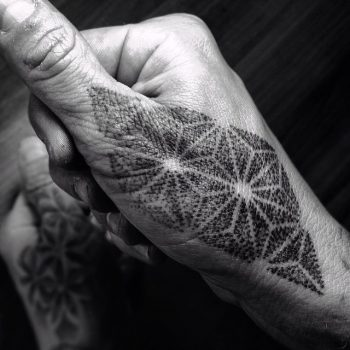 Dot-work geoemtric pattern by Tine DeFiore