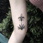 Fleur-de-lis and Lotus tattoos by artist Meritattoon