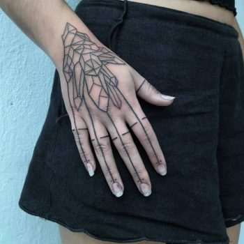 Geometry fingers by artist Meritattoon