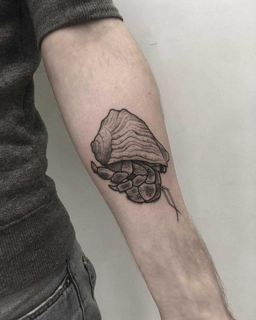 Hermitcrab by tattooist Spence @zz tattoo