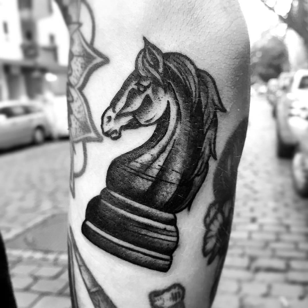Horse by Hand Job Tattoo