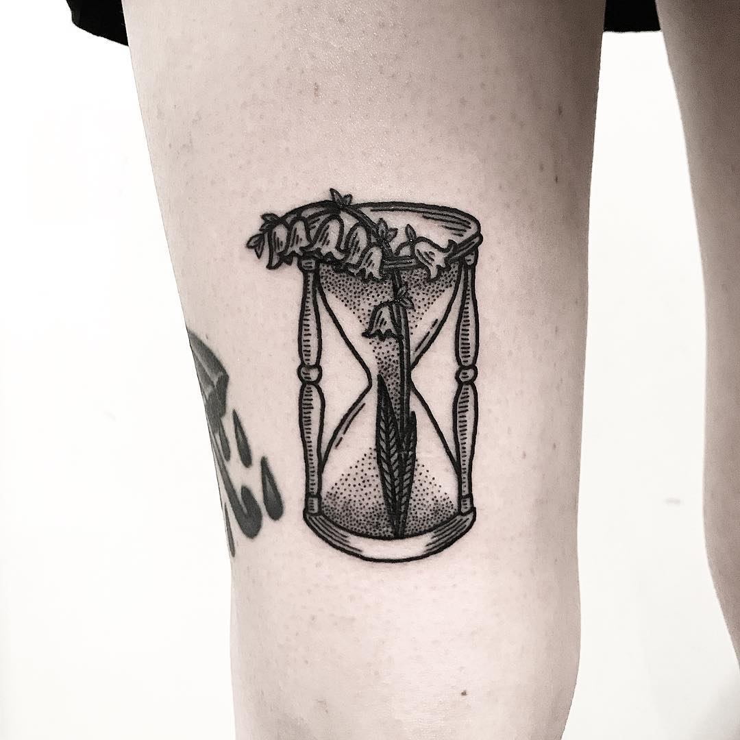 Hourglass and Lilly of the Valley by Deborah Pow