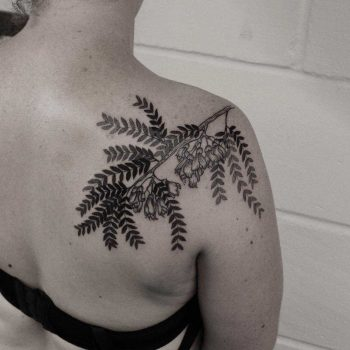 Kowhai tattoo by Oliver Whiting