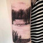 Lake scenery by tattooist Spence @zz tattoo