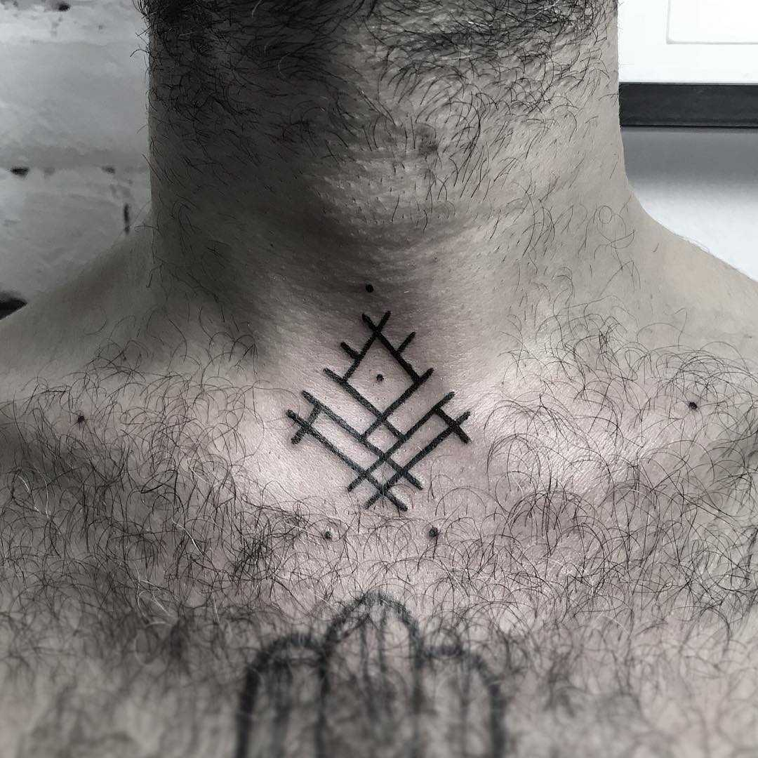Little protector symbol by Hand Job Tattoo