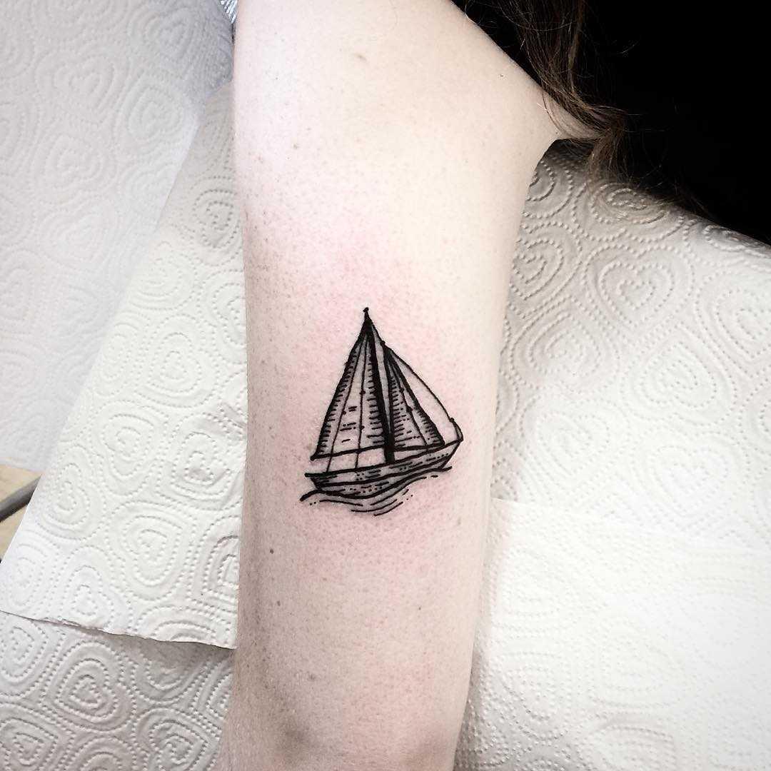 Little sail boat by Deborah Pow