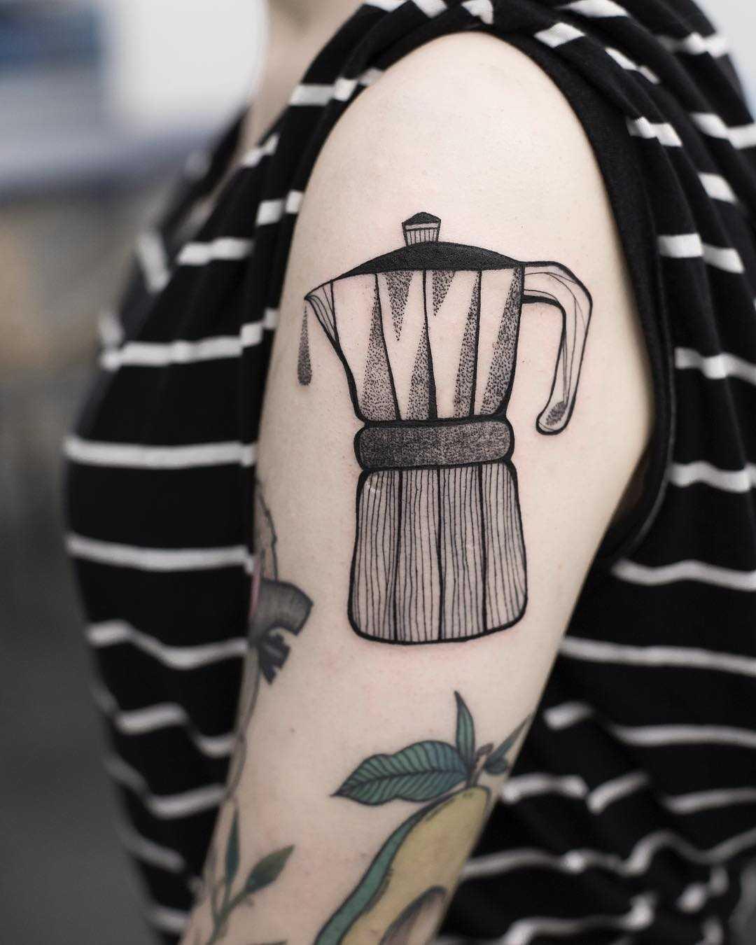 Mokka pot tattoo by Dżudi Bazgrole