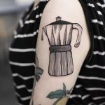 Mokka pot tattoo by Dżudi Bazgrole