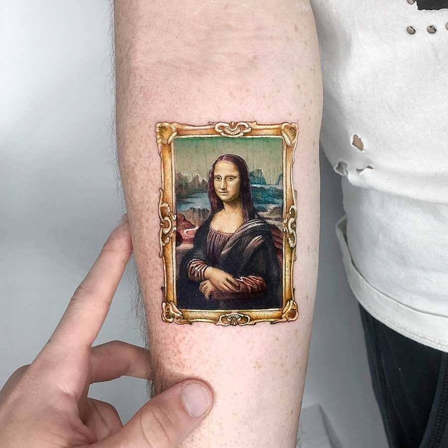 Mona Lisa tattoo by Eden Kozo