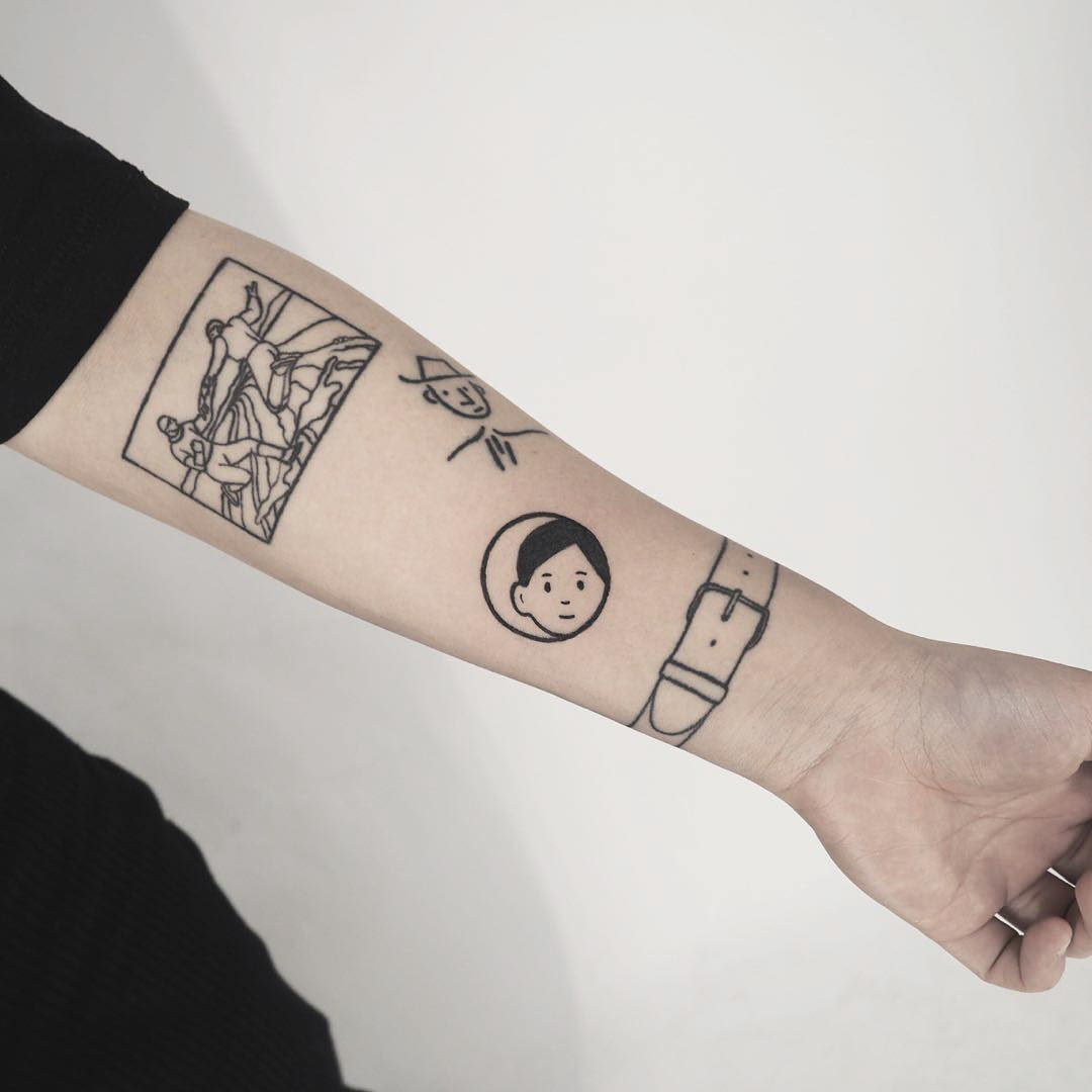 Noritake illustrations inspired tattoo by anton1otattoo