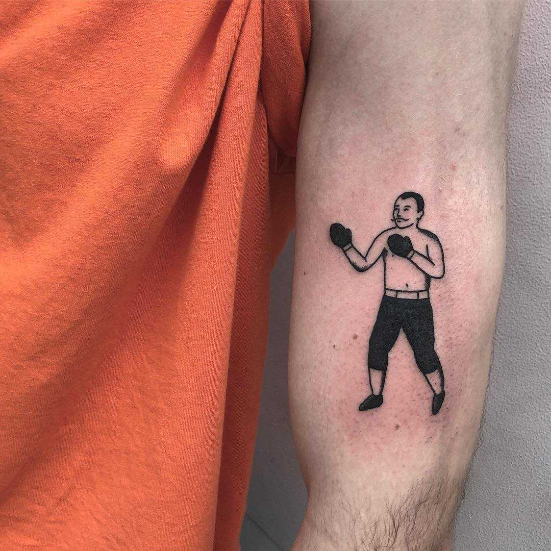 Old-school boxer tattoo by yeahdope