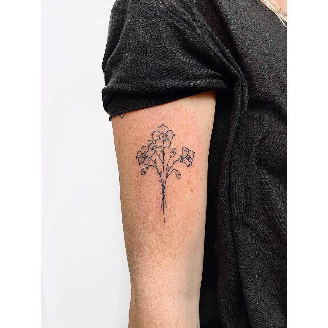 Potato plant tattoo by Zaya Hastra