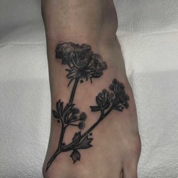 Queen Annes lace tattoo by DeFiore