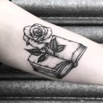 Rose in a book by Lozzy Bones