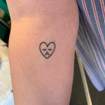Sad little heart tattoo by Kirk Budden