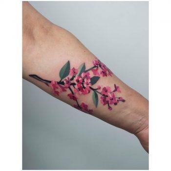 Sakura blossom tattoo by Mavka Leesova