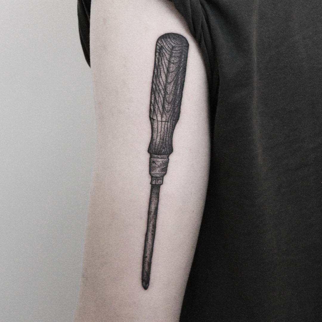 Screwdriver by tattooist Spence @zz tattoo