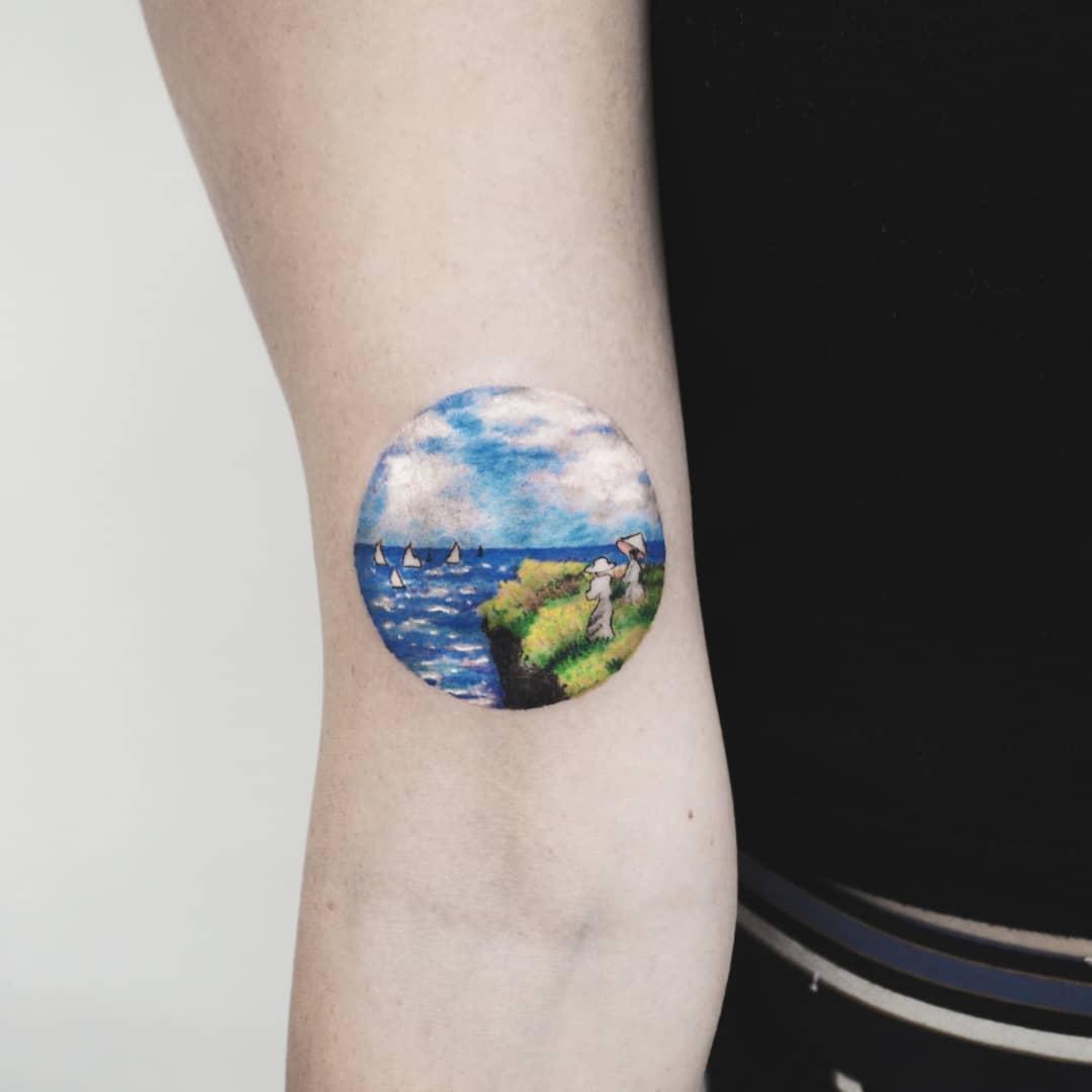 Seaside tattoo by anton1otattoo