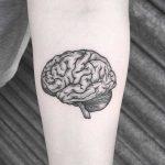 Squidgy brain tattoo by Lozzy Bones