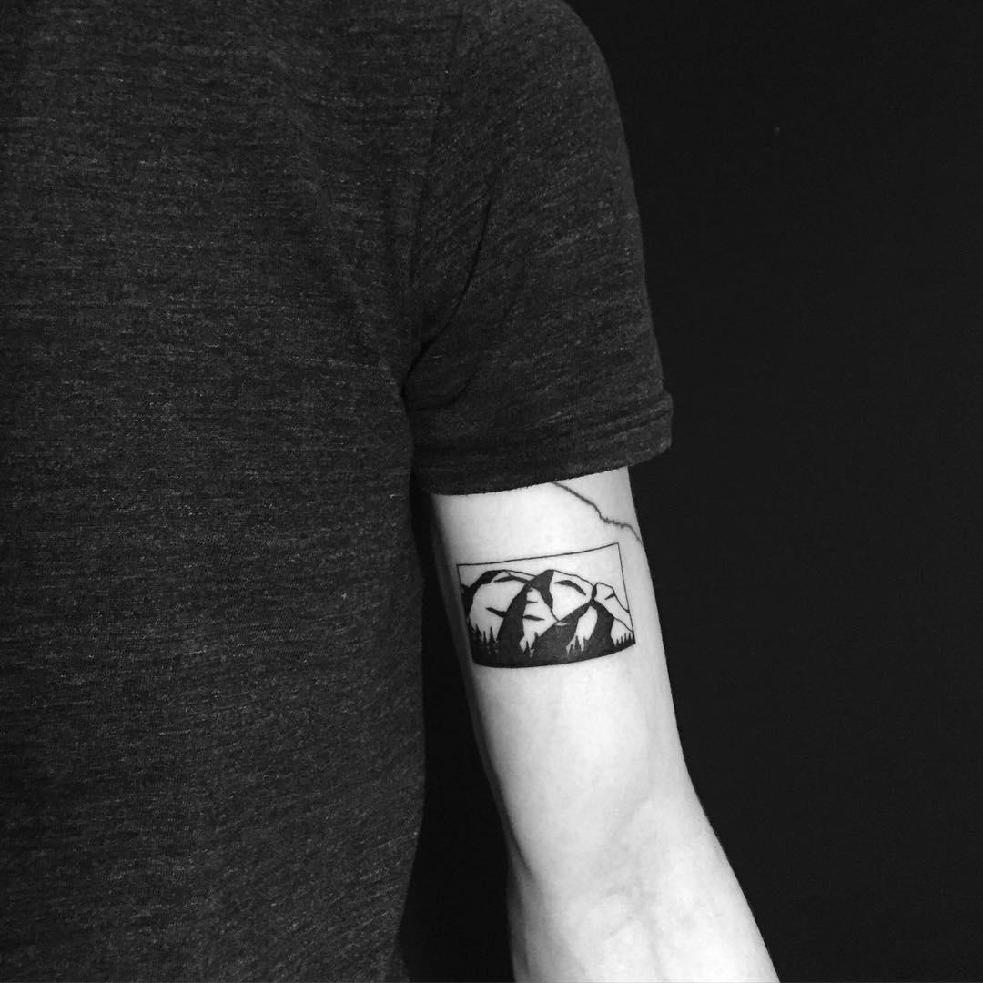 Stawamus Chief tattoo by Chinatown Stropky
