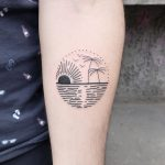Sunset paradise tattoo by Julim Rosa