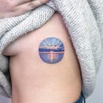 Sunset tattoo by Eden Kozo