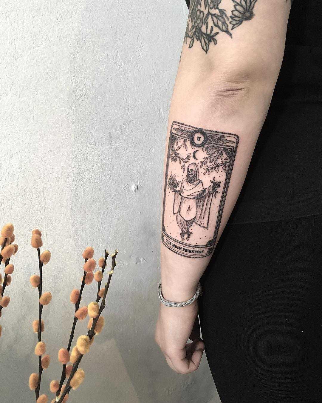 The high priestess by tattooist Spence @zz tattoo