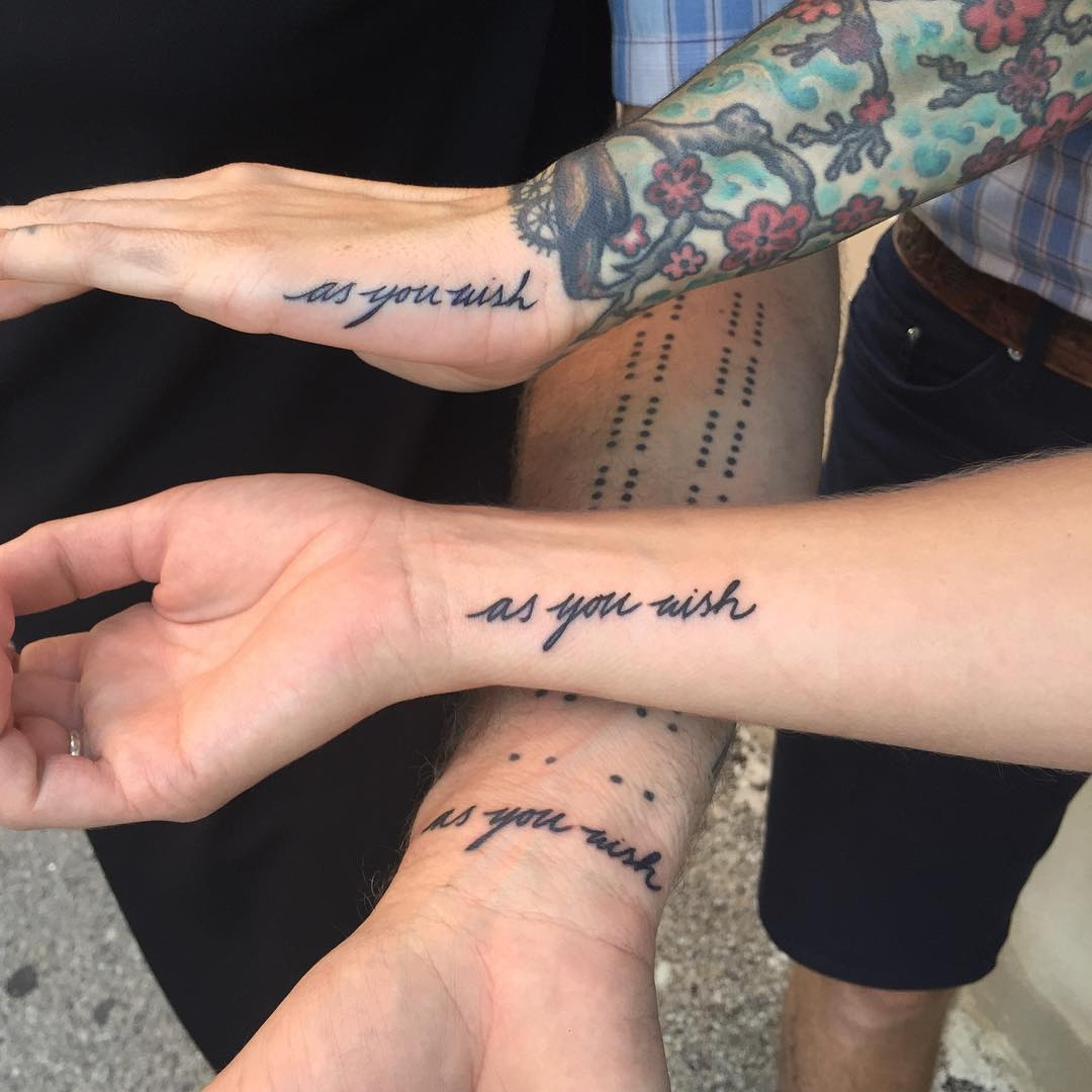 The princess bride matching tattoos by Tine DeFiore