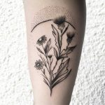 Thistle bouquet tattoo by Julim Rosa