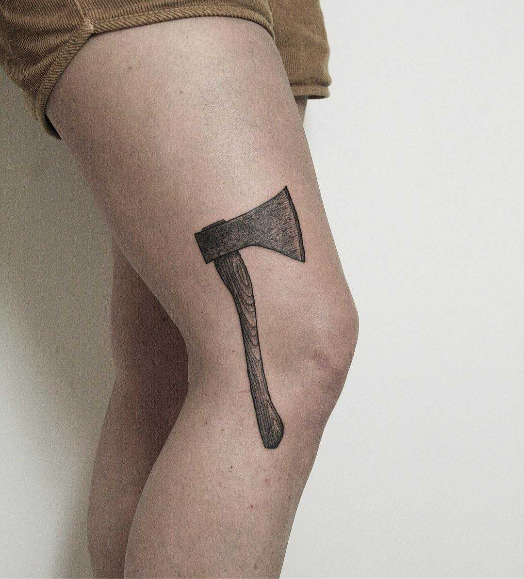 Tough axe by tattooist Spence @zz tattoo