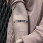 Unbroken tattoo by Loz McLean