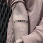 Unbroken tattoo by Loz McLean