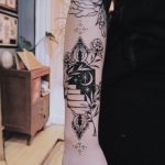 A black portal tattoo by Belladona Hurricane