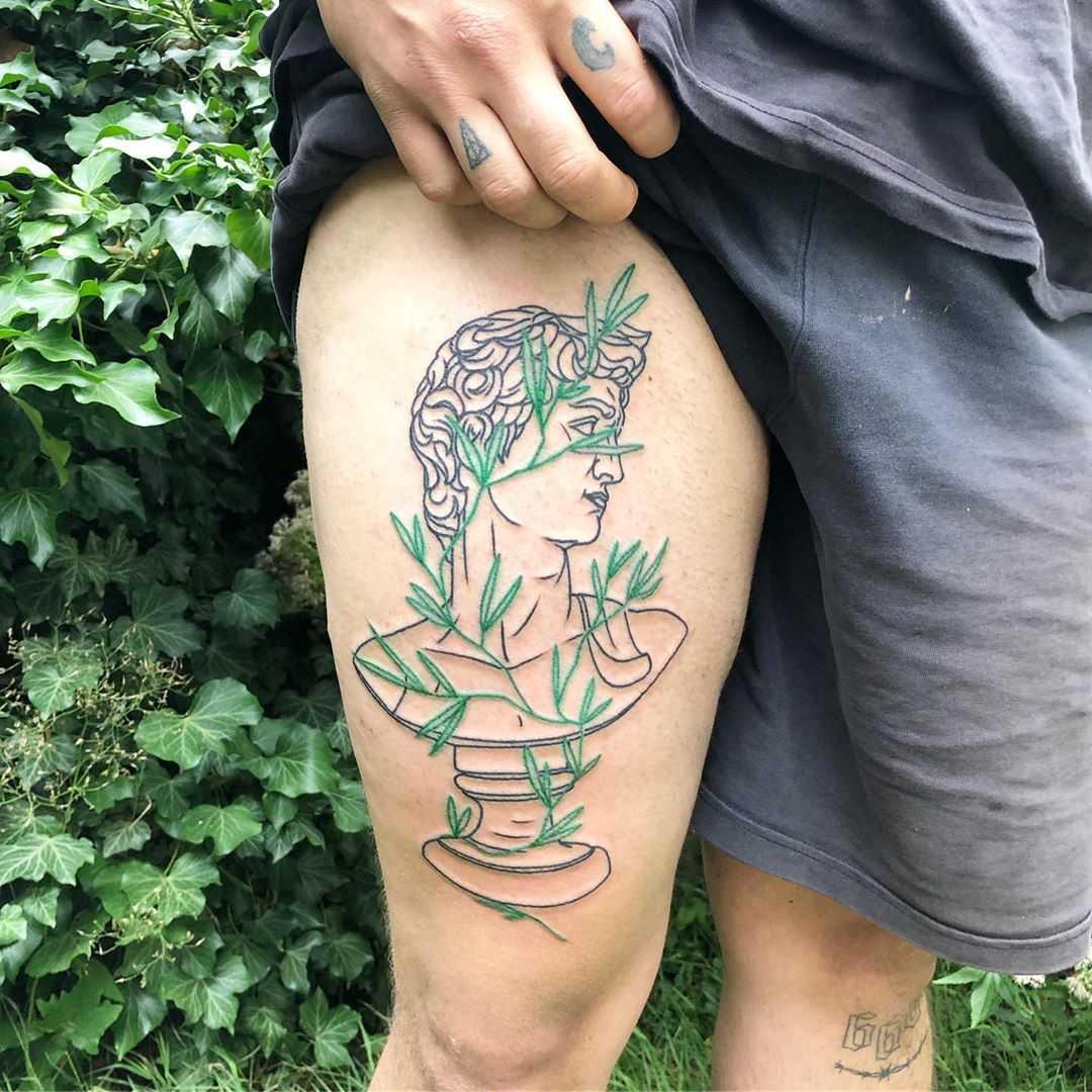 Art Vs Nature by Hand Job Tattoo