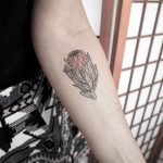 Australian Protea tattoo by Ann Gilberg