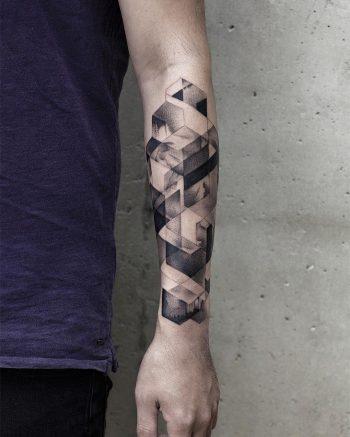 Beautiful blackwork geometry by Aki Wong