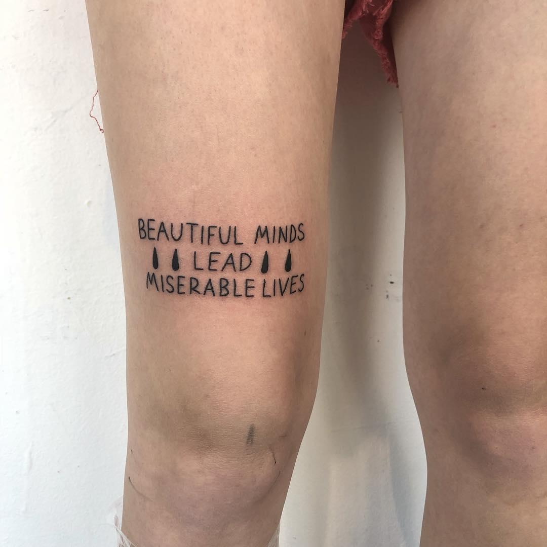 Beautiful minds tattoo by yeahdope