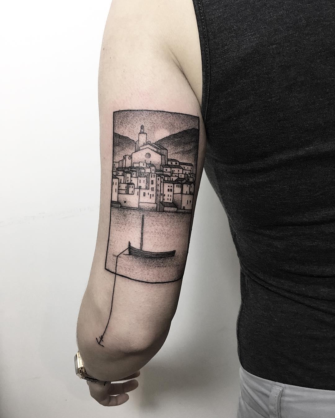 Cadaqués scenery by tattooist Spence @zz tattoo