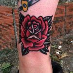 Classy warped rose tattoo by Carina Soares