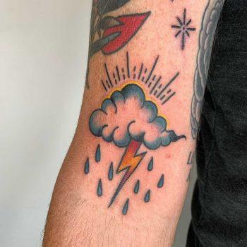 Cloud storm tattoo by Lara Simonetta
