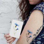 Cornflower tattoo by tattooist picsola