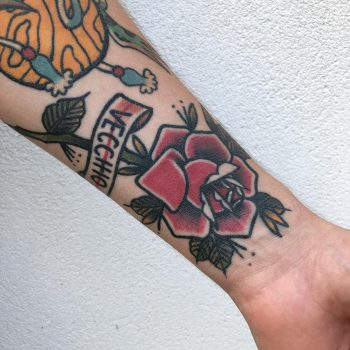 Crisp classy rose tattoo by Lara Simonetta