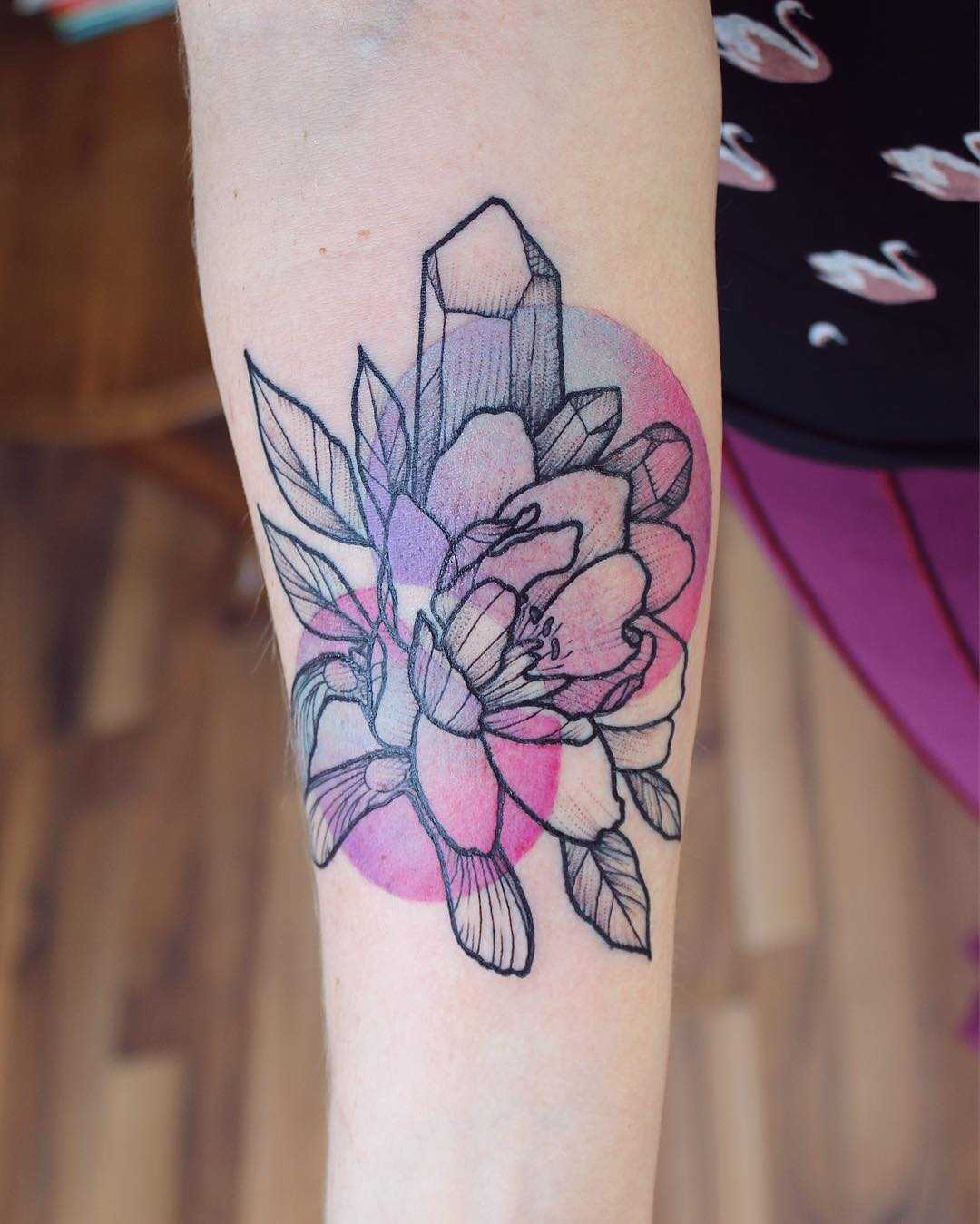 Crystal and flowers by Emily Kaul