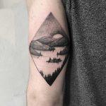 Fjord scenery by tattooist Spence @zz tattoo
