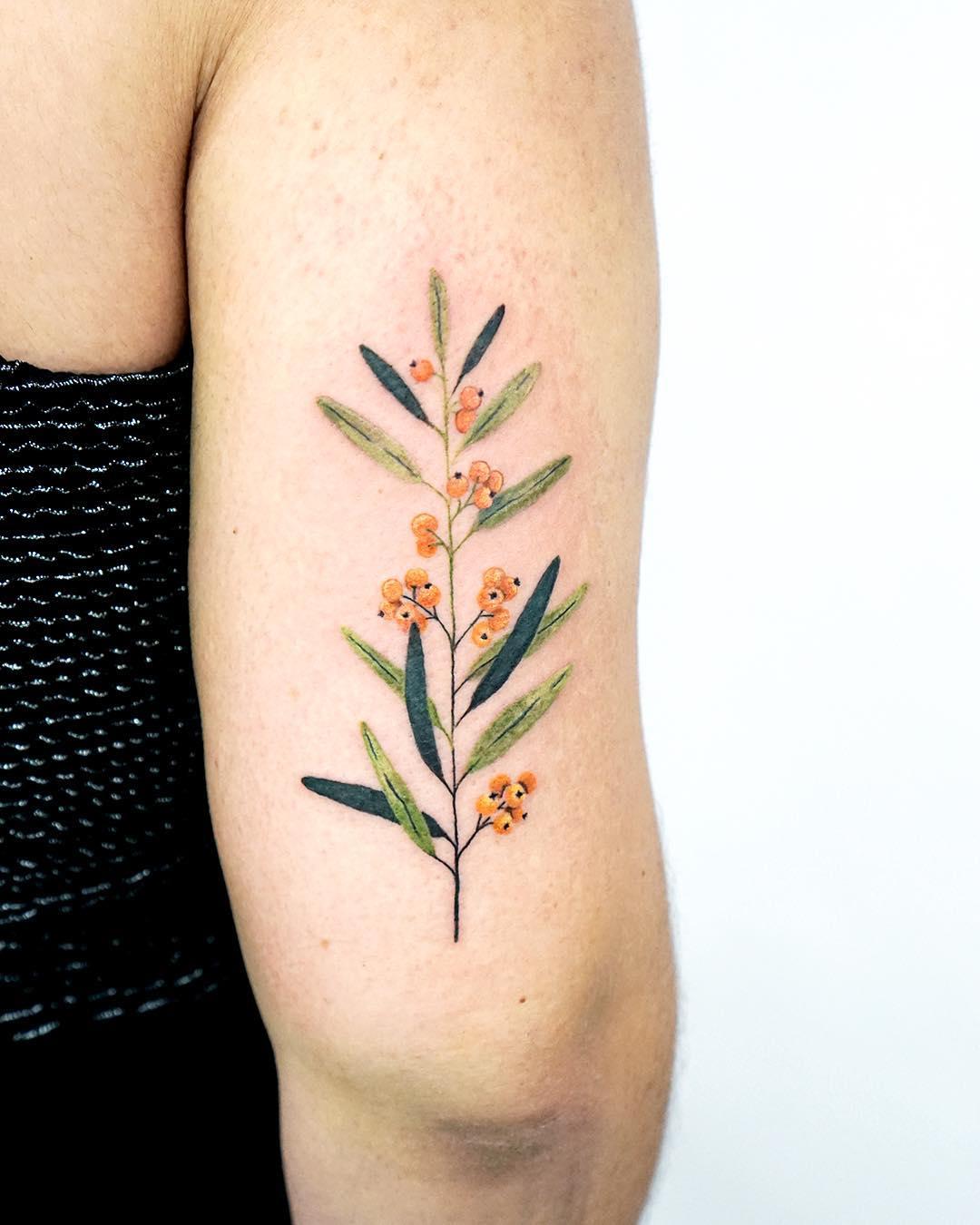 Hippophae tattoo by tattooist picsola