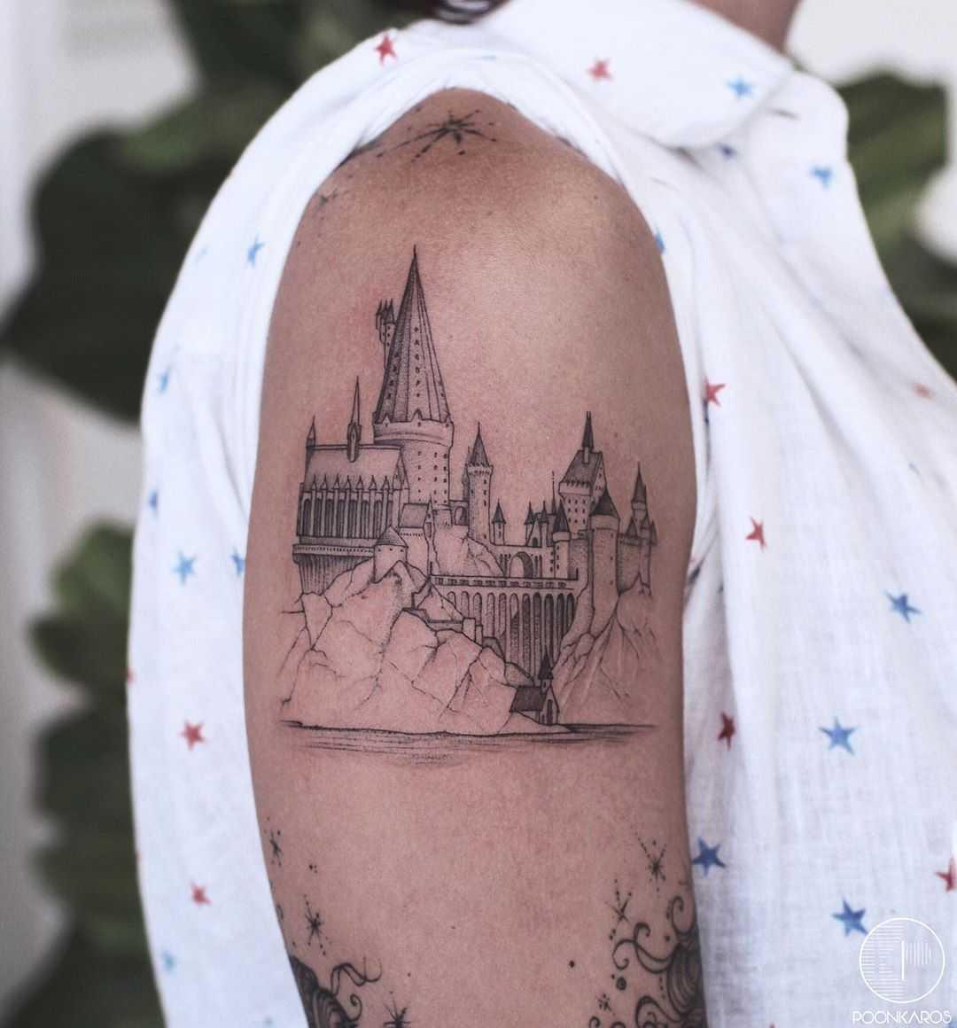 Hogwarts️ tattoo by Karry Ka-Ying Poon