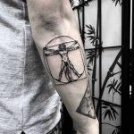Homem Vitruviano by tattooist gvsxrt